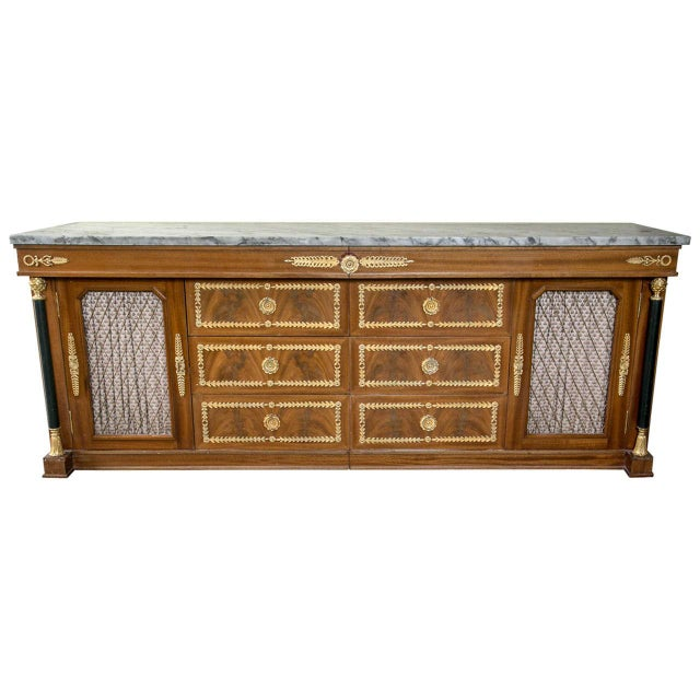 Palatial Empire-Style Sideboard For Sale - Image 11 of 11