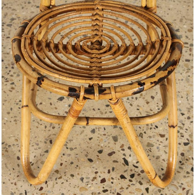 Italian Rattan Chair For Sale - Image 4 of 5