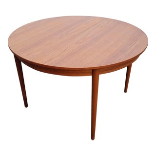 1960s Danish Modern Aage Christensen Teak Dining Table For Sale