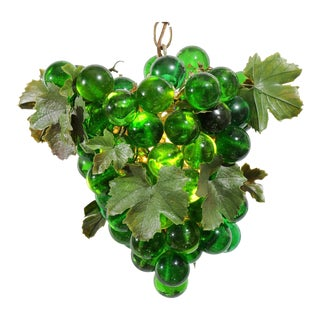 Midcentury Grape Cluster Light of Green Lucite For Sale