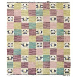Vintage Swedish Flat-Weave by Märta Måås-fjetterström 'Ratmattan' For Sale