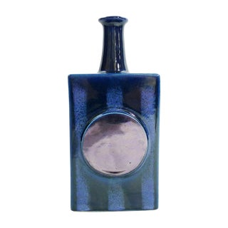 Vintage Arabia of Finland Blue Bottle For Sale