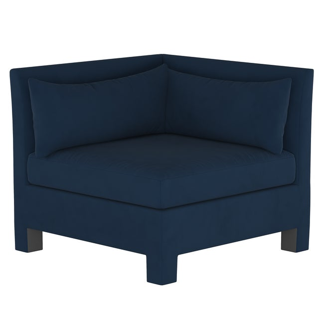 Velvet Ink 4 Piece Sectional For Sale In Chicago - Image 6 of 9