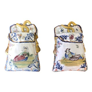 Quimper Petite Wall Pockets - a Pair For Sale