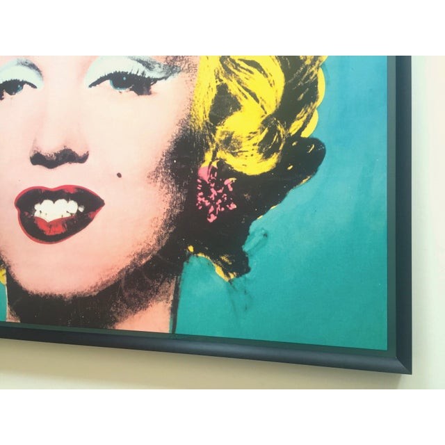 "Andy Warhol Vintage 1988 Lithograph Print Framed Pop Art Poster "" Marilyn "" 1964 For Sale - Image 11 of 13"
