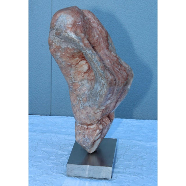 Stone Mid-Century Modern Abstract Marble Sculpture For Sale - Image 7 of 13