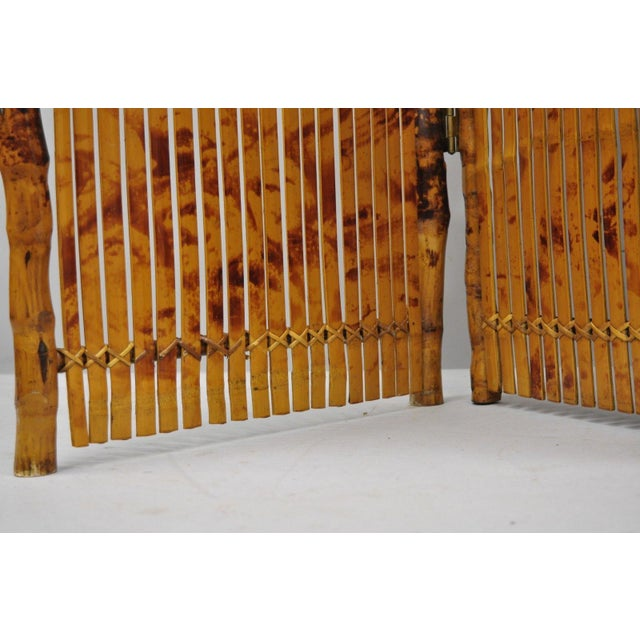 Late 20th Century Bamboo Wood Panel Room Divider For Sale In Philadelphia - Image 6 of 10
