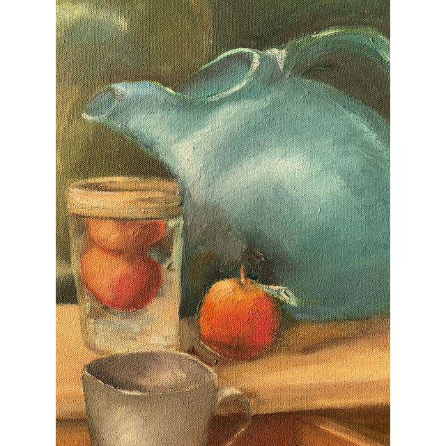 American Still Life Painting With Lemon and Pitcher For Sale - Image 3 of 9