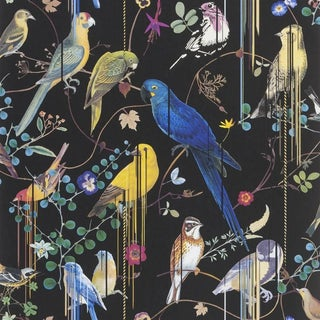 Christian Lacroix Birds Sinfonia Crepuscule Wallpaper - Sample For Sale