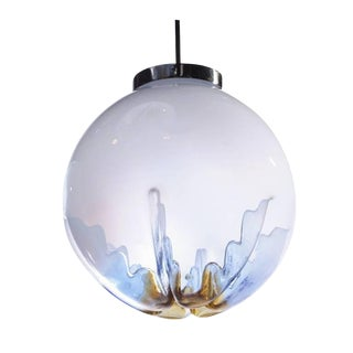 """Italian """"Indented"""" Glass Globe Light For Sale"""