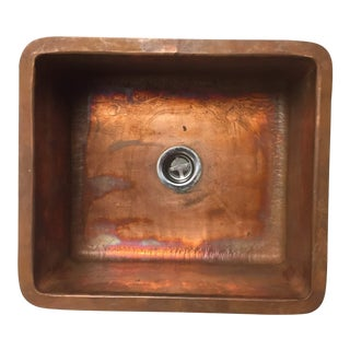 "Copper Sink - Bar | Prep - 13.5"" X 15"" X 7"" For Sale"