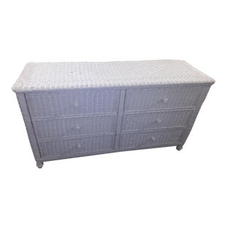 White Wicker Dresser For Sale