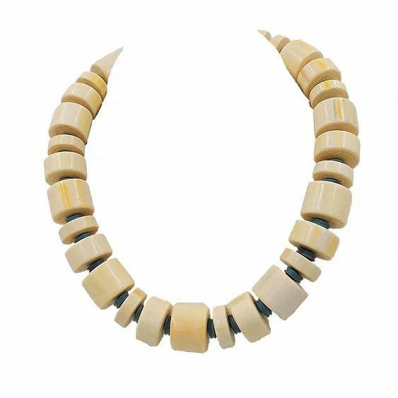 Gemstone Monet Beaded Ad Piece Necklace, 1982 For Sale - Image 7 of 7