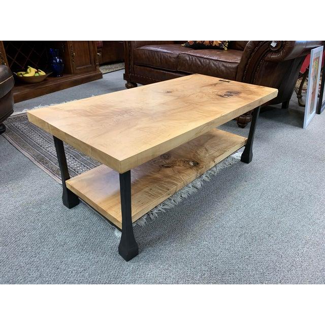 Restoration Hardware Coffee Table.Industrial Restoration Hardware Knotty Wood Iron Coffee Table