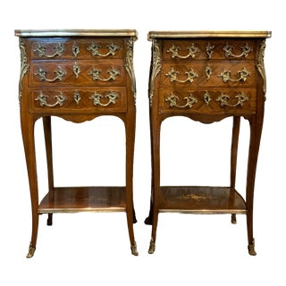 Vintage French Commodes-a Pair For Sale