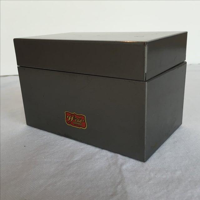 Mid-Century Metal Index Box - Image 6 of 7