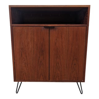 Mid Century Danish Teak Bar/Storage/Media Cabinet For Sale