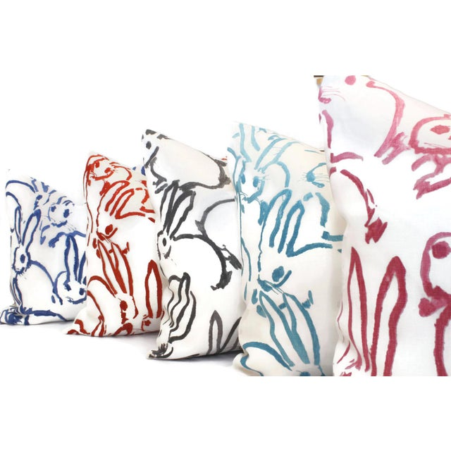Lee Jofa Aqua Bunny Pillow Cover in Hutch by Lee Jofa For Sale - Image 4 of 5