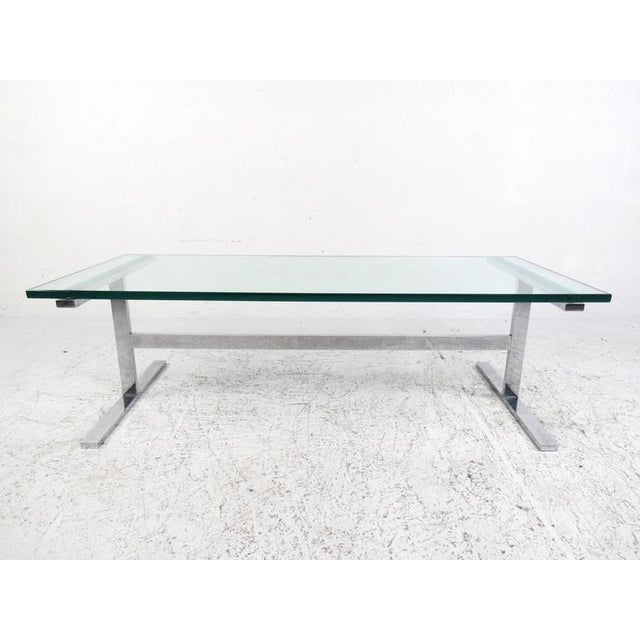 Vintage Modern Chrome Coffee Table Set For Image 4 Of 10