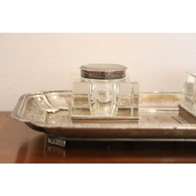 Mid-Century Modern 19th Century Silver Inkwell by j.g &S John Grinsell & Sons, London 1897 For Sale - Image 3 of 10