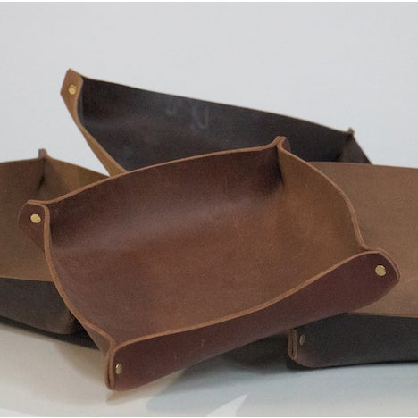 Traditional Leather Catch-All For Sale - Image 3 of 4