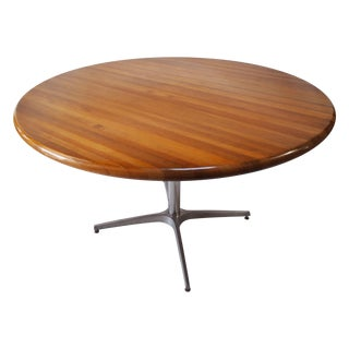 Mid-Century Round Center Table For Sale