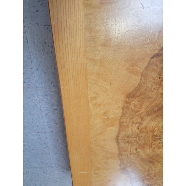Asian Ming Henredon Burl Wood Coffee Table For Sale - Image 9 of 12