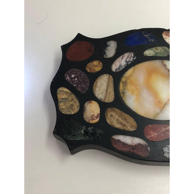 Early 20th Century Grand Tour Inlaid Specimen Marble Paperweight For Sale - Image 5 of 7