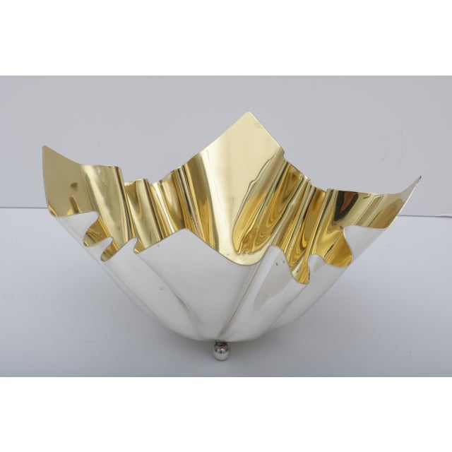 Gold 1970s Vintage Italian Wash Bowl For Sale - Image 7 of 10