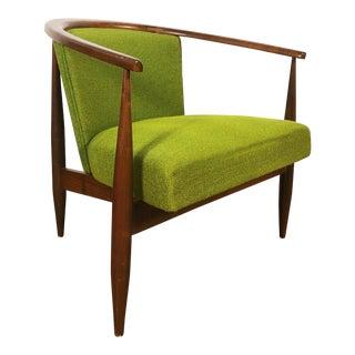 1960s Vintage Kodawood Barrel Back Lounge Chair For Sale