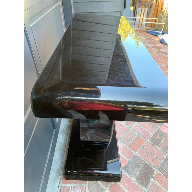 Vintage Contemporary Black Lucite Bar Console For Sale In Los Angeles - Image 6 of 12