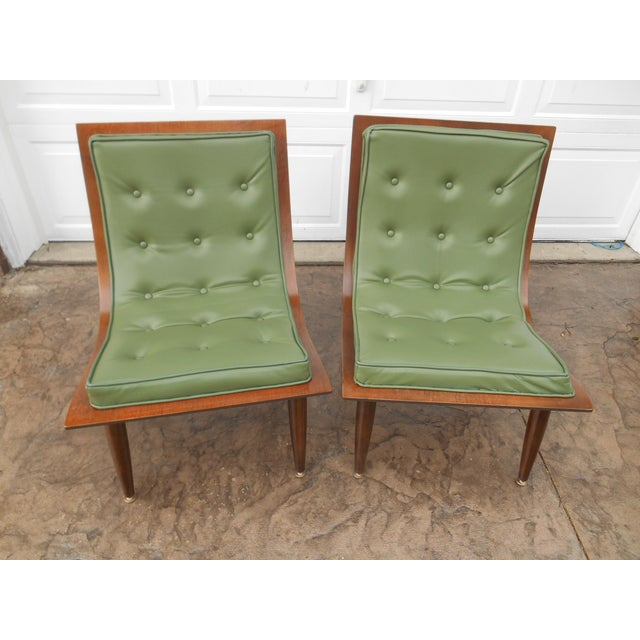 Vintage Mid-Century Modern Carter Brothers Scoop Chairs- A