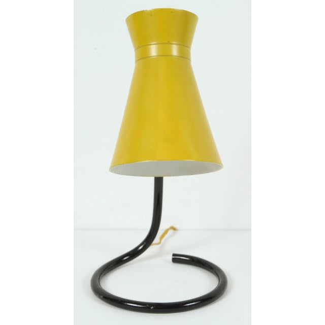 "Jacques Biny Jacques Biny ""Cocotte"" Yellow Table Lamp for Luminalite For Sale - Image 4 of 8"