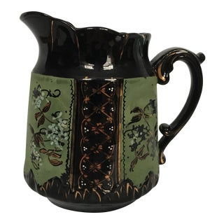 Black Glazed Porcelain Pitcher