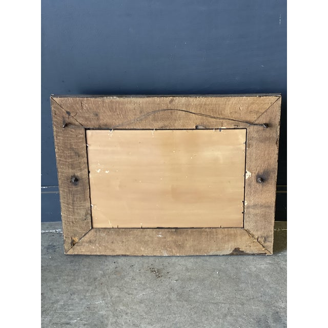 19th Century Oak Mirror With Hats Hooks For Sale - Image 9 of 10