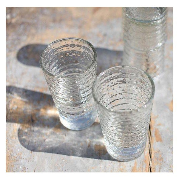 2010s Idika Recycled Glass Dot Glasses - Set of 6 For Sale - Image 5 of 6