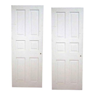 Matching Painted Raised Panel Doors - a Pair