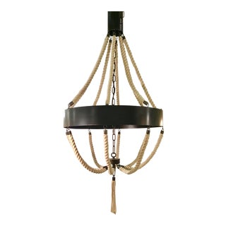 Noir Co. Industrial Modern Rope Chandelier For Sale