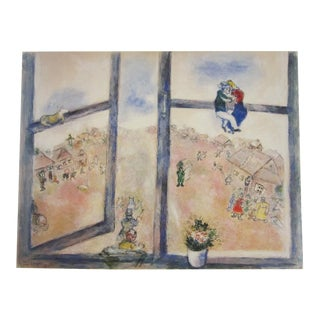 1987 Marc ChagallTel Aviv Museum Original Poster For Sale