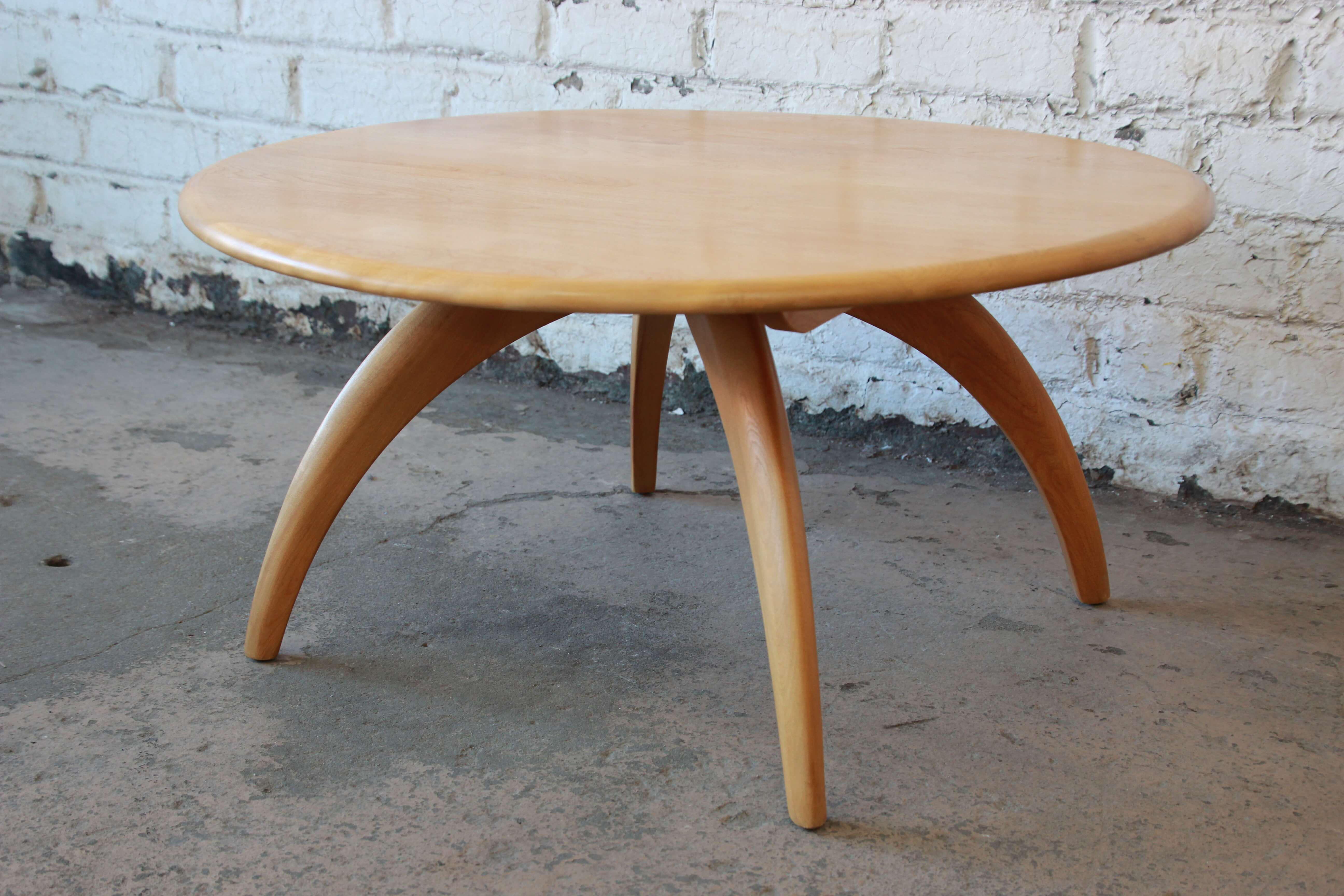 Heywood Wakefield MidCentury Modern Wishbone Lazy Susan Round