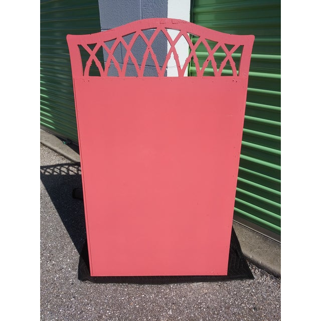 1960s Palm Beach Flamingo Pink Faux Bamboo Wall Mirror For Sale - Image 5 of 11