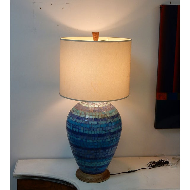 Mid Century Mosaic Table Lamp by Fisher - Image 4 of 8