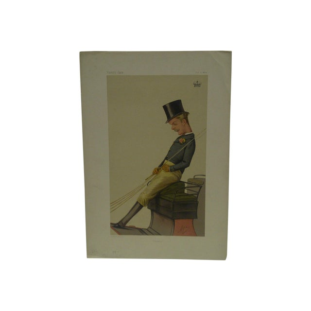 "1874 Vintage ""Charlie"" Vanity Fair Print For Sale"