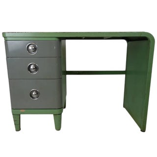 Norman Bel Geddes Simmons Company Furniture Enameled Steel Desk For Sale