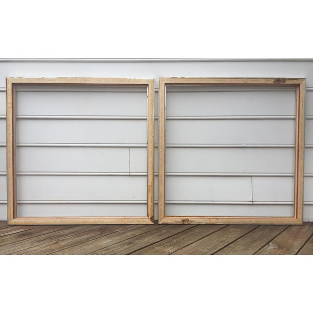 Large Square Roma Moulding Frames - A Pair - Image 11 of 11