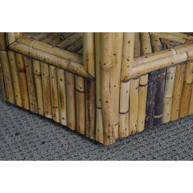 Vintage Rattan Bamboo Terrarium Display Cabinet For Sale - Image 5 of 9