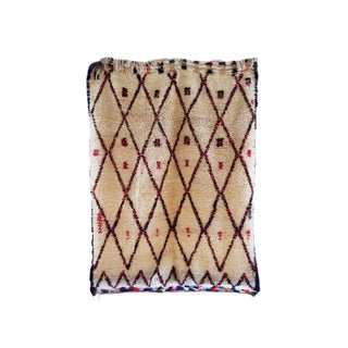 Vintage Beni Ourain Style Diamond Pattern Moroccan Kilim Rug For Sale