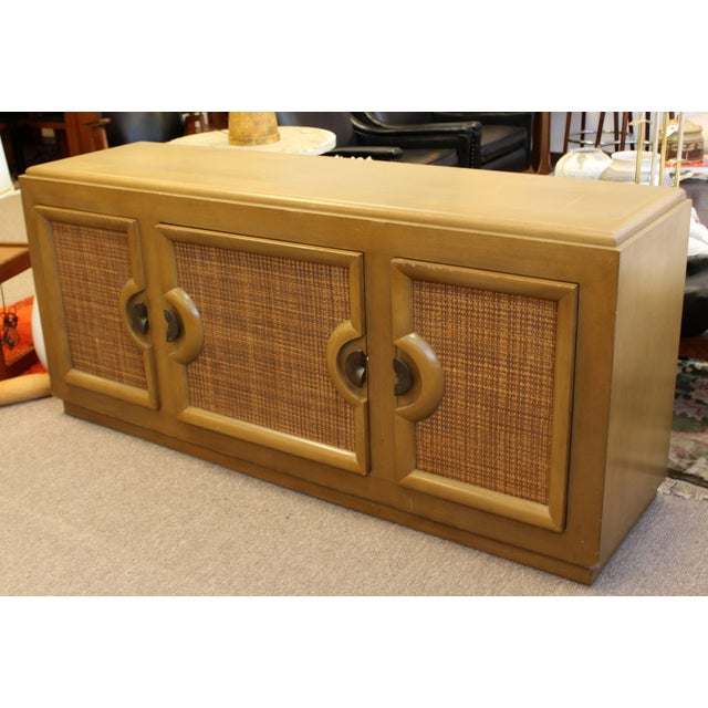 Mid-Century Modern Mid-Century Modern Paul Laszlo Credenza Sideboard Buffet Cane and Wood, 1950s For Sale - Image 3 of 9