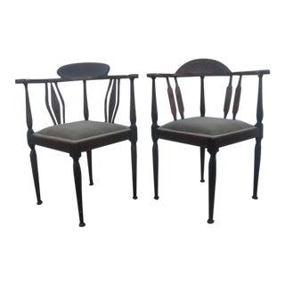 Antique Georgian Corner Chairs - a Pair For Sale