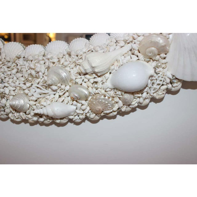 Contemporary White Seashell Encrusted Mirror bySnob Galeries For Sale - Image 3 of 13